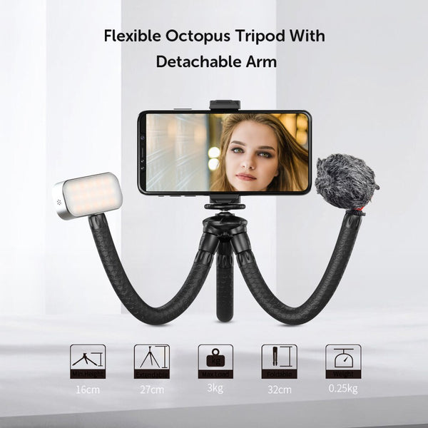 Multifunctional Flexible Tripod for smartphones & cameras