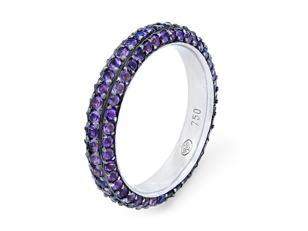 Pavé Set Amethyst Band