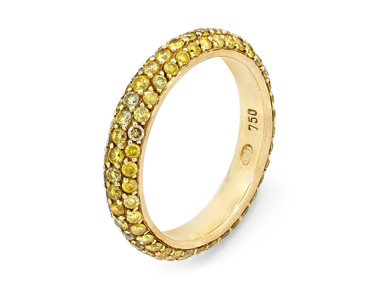 Pavé Set Yellow Diamond Band