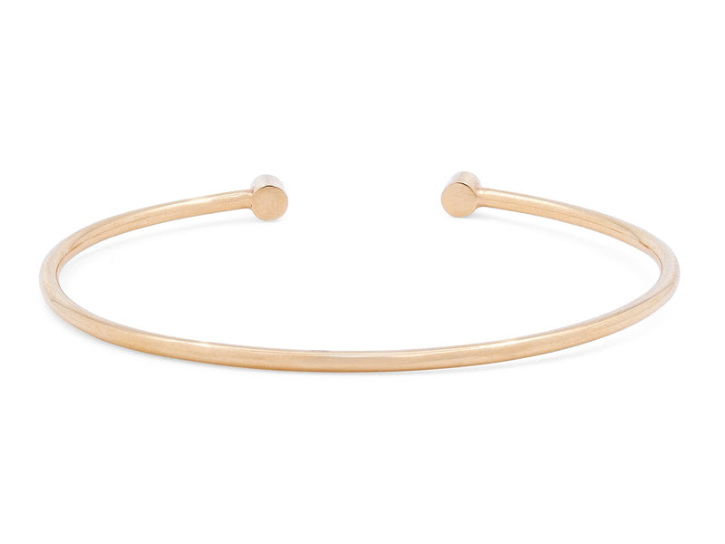 Rose Cut Diamond Bezel Bangle