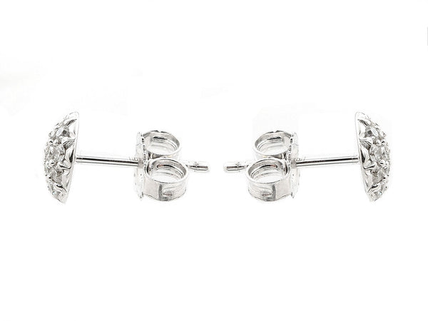 Pavé Set Diamond Dot Studs