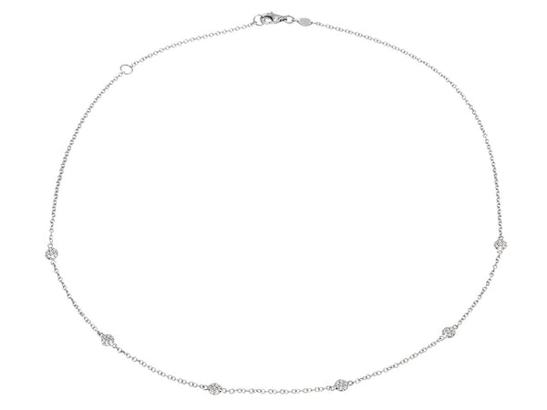 Pavé Set Diamond Dot Necklace