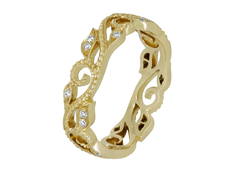 Pavé Set Diamond Vine Ring