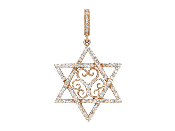 Pavé Set Diamond Star of David Pendant