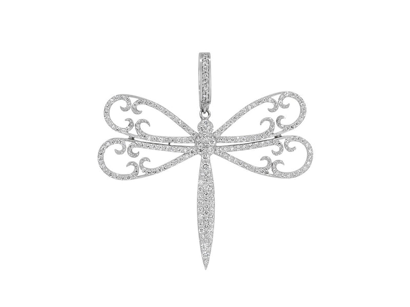 Pavé Set Diamond Dragonfly Pendant