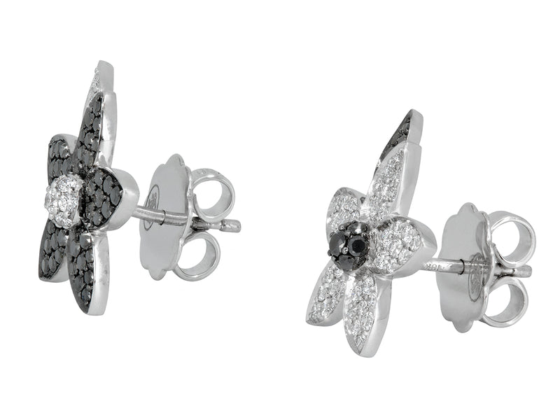 Pavé Set Diamond Flower Studs