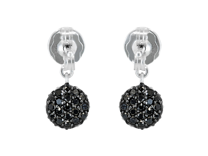 Mini Pavé Set Diamond Dot Earrings