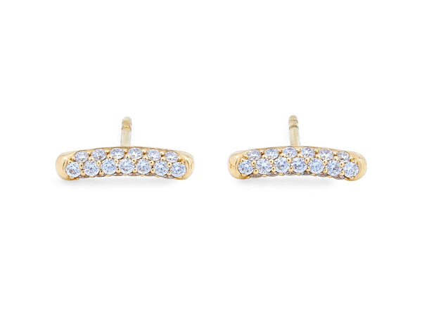 Pavé Set Diamond Bar Earrings