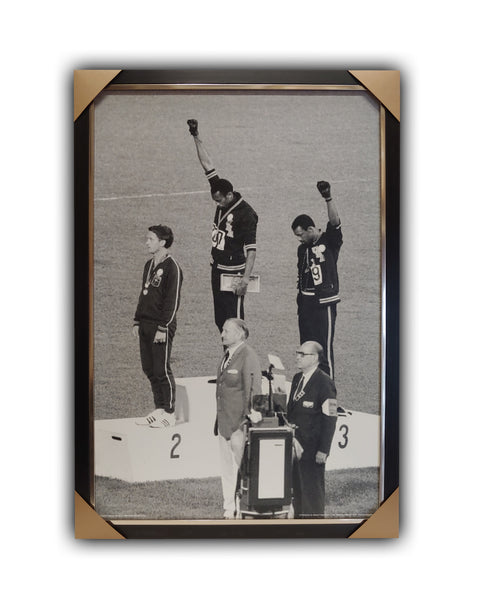 "1968 Olympics ""BLACK POWER"" Framed Licensed Print 27x39"