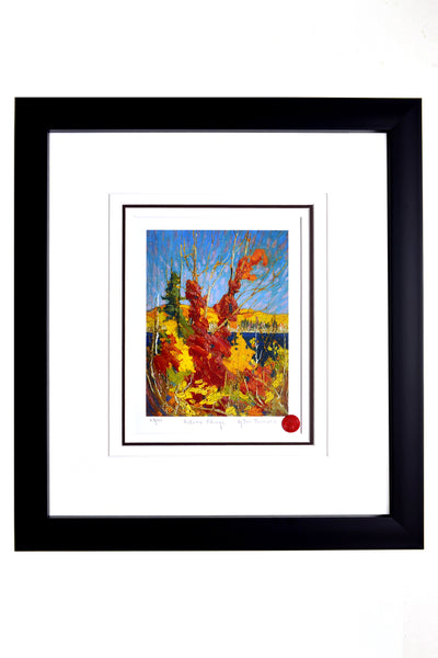 "Group of Seven Tom Thomson ""Autum Foliage"" Framed Limited Edition"