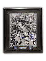 "Toronto Maple Leafs ""Bay Street Parade"" 23' x 27' Framed Print Autographed By Bobby Baun , Red Kelly , Eddie Shack , Johnny Bower"