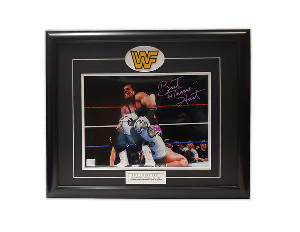 "Bret ""The Hitman"" Hart "" SHARPSHOOTER "" 23 x 19 Autographed Print"
