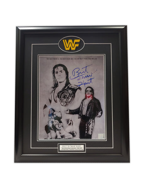 "Bret "" The Hitman "" Hart 19 x 23 Framed Autographed Print"