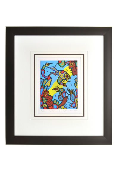 "Norval Morrisseau ""Farther and Sun"" Framed Limited Edition"