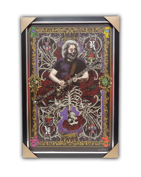 Jerry Garcia Texturized Framed Licensed Print 27x39