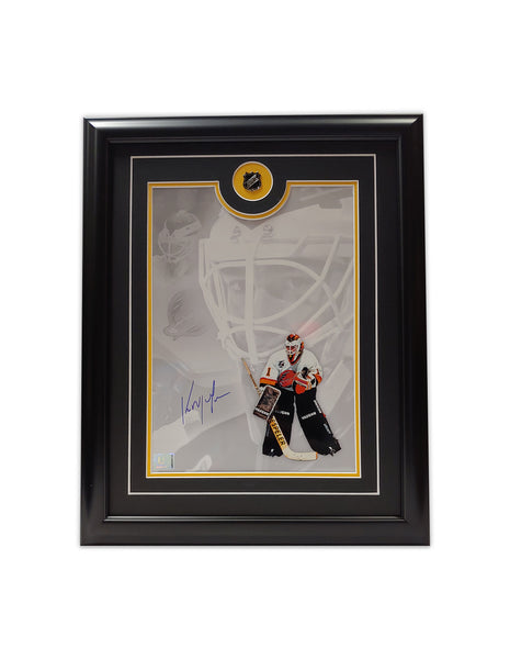 Kirk Mclean Vancouver Canucks 19.5 x 16.5 Framed Autographed Print