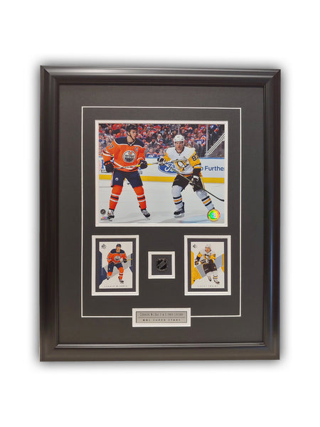 Connor McDavid & Sidney Crosby 23x19 Framed Limited Edition Super Fan Collector Series