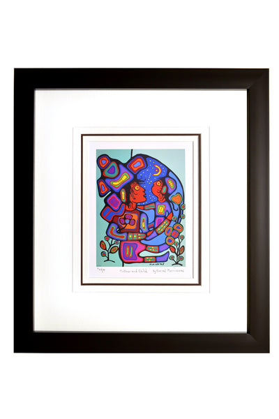 "Norval Morrisseau ""Mother and Child"" Framed Limited Edition"