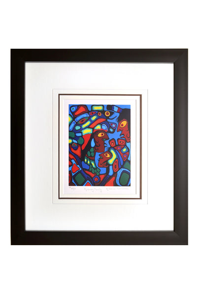 "Norval Morrisseau ""Ojibway Family"" Framed Limited Edition"