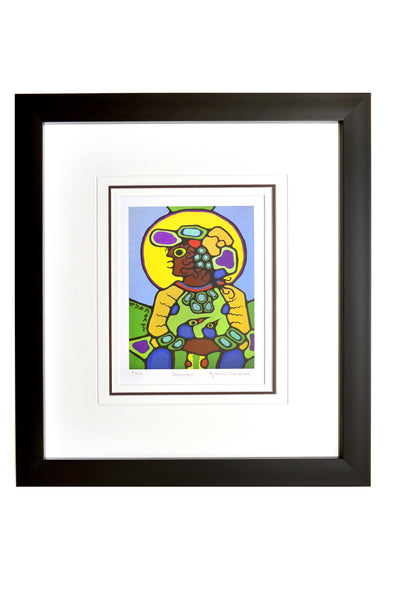 "Norval Morrisseau ""Shawman"" Framed Limited Edition"