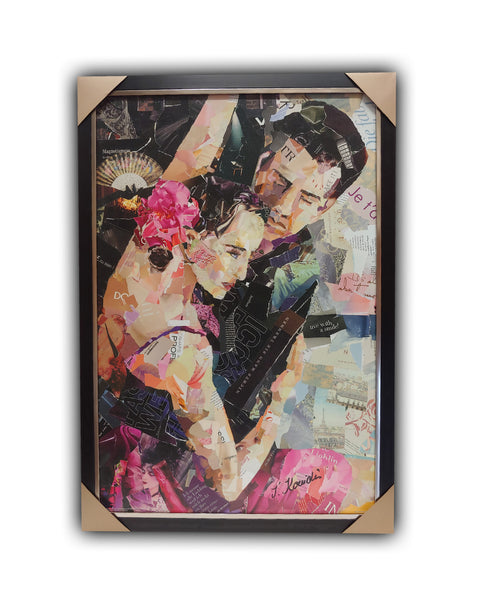 "Dancers ""TANGO PARISIENNE"" Framed Licensed Print 27x39"