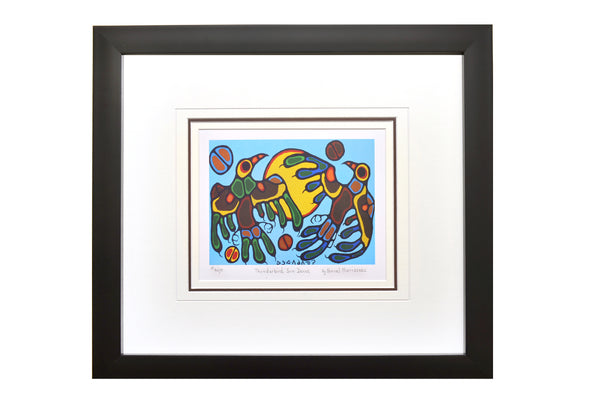 "Norval Morrisseau ""Thunderbird Sun Dance"" Framed Limited Edition"