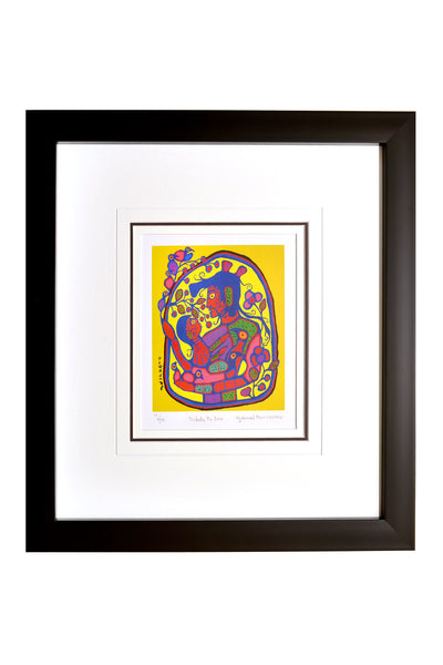 "Norval Morrisseau ""Tribute to Son"" Framed Limited Edition"