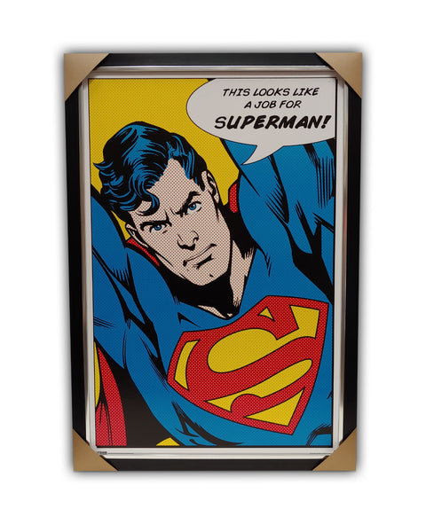 Superman Texturized Framed Licensed Print 27x39