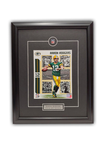 Aaron Rodgers Green Bay Packers 19' x 23' Framed Licensed Photo