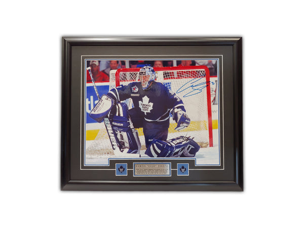 "Curtis Joseph ""CUJO"" Toronto Maple Leafs - 23x27 Signed Framed Print"