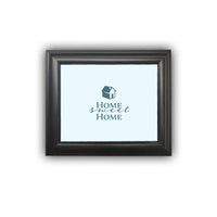 "Framed Quote ""Home Sweet Home"" Housewarming Gift New Home Frame Personalized Picture Frame Home Decor Wall Decor Premium Quality"