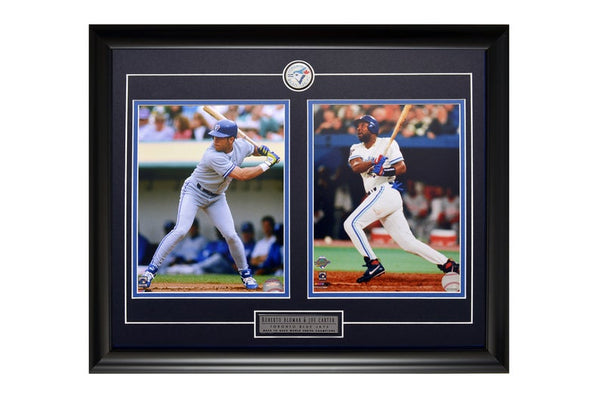 Toronto Blue Jays Joe Carter/Roberto Alomar Action Shot Two Framed 8x10 Licensed Photos