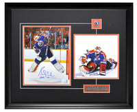 Edmonton Oilers Grant Fuhr Action Shot Autographed & Action Unsigned Framed 8x10 Photos
