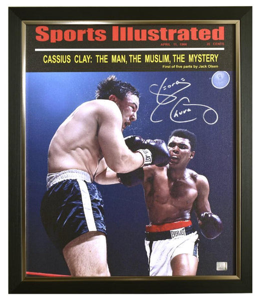 George Chuvalo Autographed Framed Canvas with Certificate of Authenticity