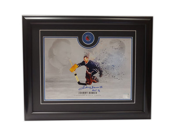 Johnny Bower Toronto Maple Leafs Hall of Fame '76 19.5x16.5 Framed Autographed Print