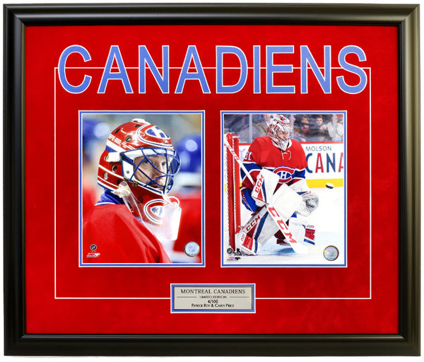 Montreal Canadiens Patrick Roy & Carey Price Double Framed 8x10 Licensed Photos -