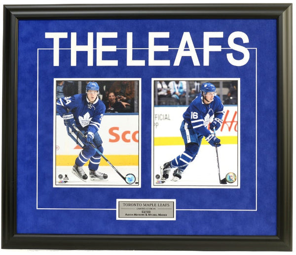 Toronto Maple Leafs Auston Matthews & Mitch Marner Double Framed 8x10 Licensed Photos -