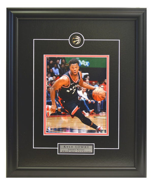 "Toronto Raptors Kyle Lowry ""Action"" Framed Licensed 8x10 Photo WTN-3"