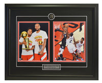"Toronto Raptors Kawhi Leonard & Kyle Lowry ""Trophie Dual Action"" Two Framed 8x10 Licensed Photos WTN-10"