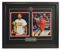 Kawhi Leonard Trophy and Action Shot Two Framed 8x10 Licensed Photos WTN-12