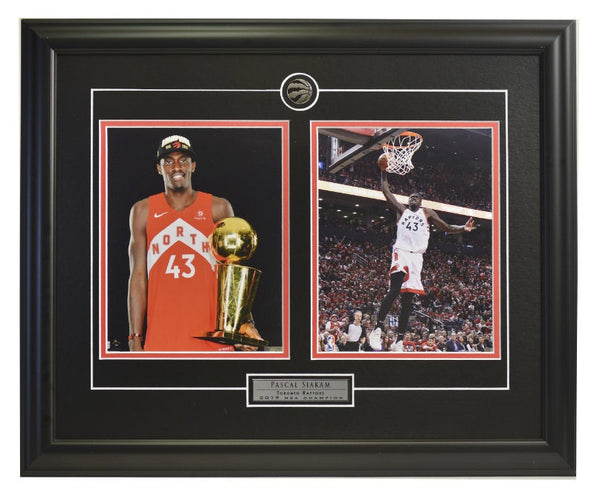 Pascal Siakam Trophies & Action Shot Two Framed 8x10 Licensed Photos WTN-14