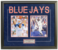 Toronto Blue Jays Roberto Alomar & Joe Carter Double Framed 8x10 Licensed Photos -
