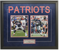 New England Patriots Tom Brady & Robert Gronkowski Double Framed 8x10 Licensed Photos -