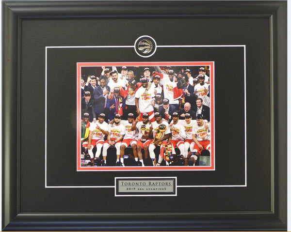 Toronto Raptors Team Trophy Celebration Framed 8x10 Licensed Photo WTN-20