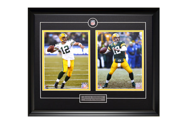 Aaron Rodgers Action Shot Two Framed 8x10 Licensed Photos