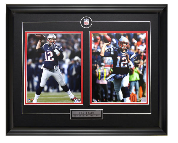 New England Patriots Tom Brady Action Shots Two Framed 8x10 Licensed Photos