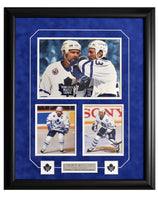 Toronto Maple Leafs Doug Gilmour & Wendel Clark Action Shots Three Framed 8x10 Licensed Photos