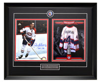 Montreal Canadiens Jean Beliveau Action Shot Autographed & Tribute Unsigned Framed 8x10 Photos