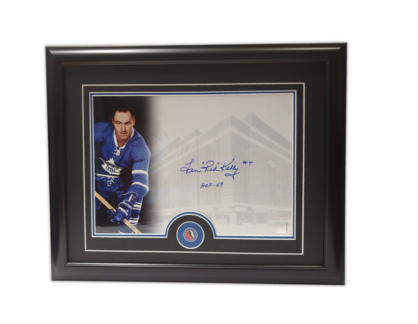 "Len ""Red"" Kelly Toronto Maple Leafs 19.5x16.5 Framed Autographed Print"