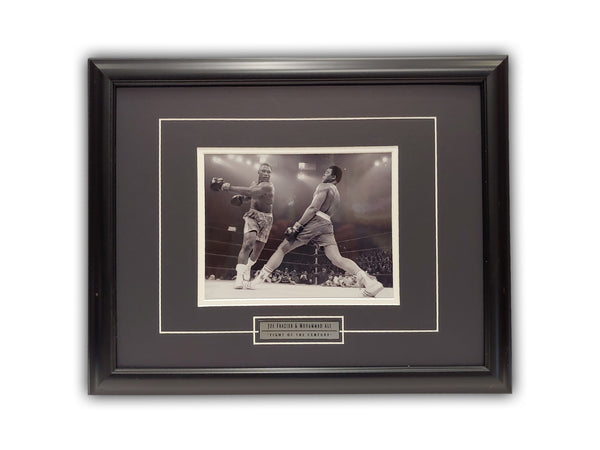 "Joe Frazier & Muhammad Ali "" Fight Of The Century "" 19' x 23' Framed Print"